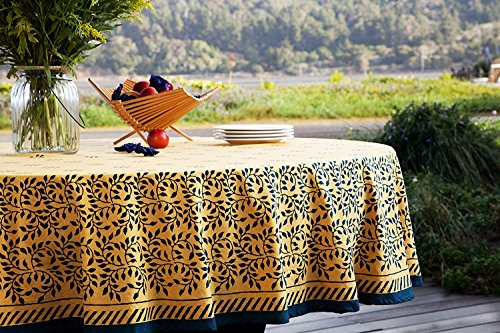 Attiser Handmade Tablecloth French Country Style Yellow Blue
