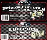 200 Deluxe Currency Holders DCH-RB for Regular Bills - Semi Rigid Plus 200 Regular Bill Sleeves