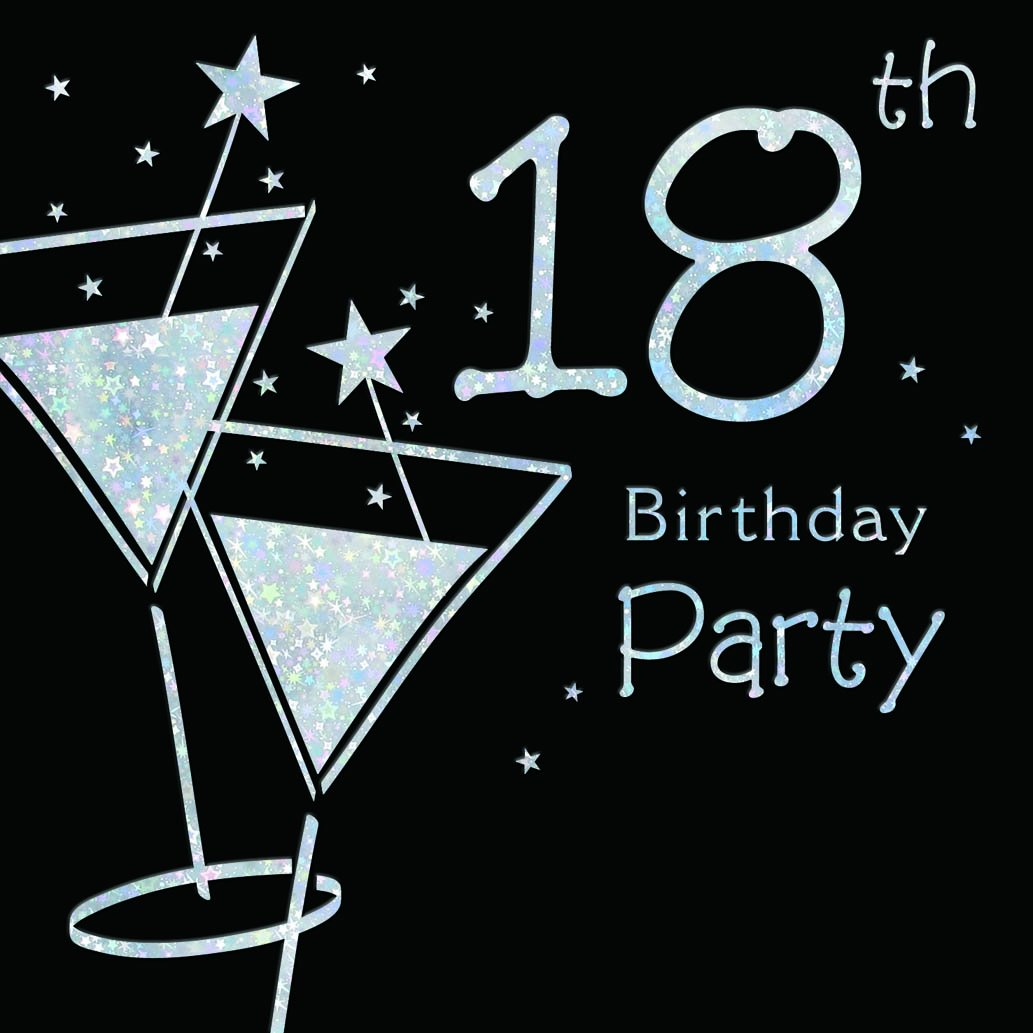 Amazon.com: 18th Birthday Party Invitations (Pack of 6 Quality Cards ...