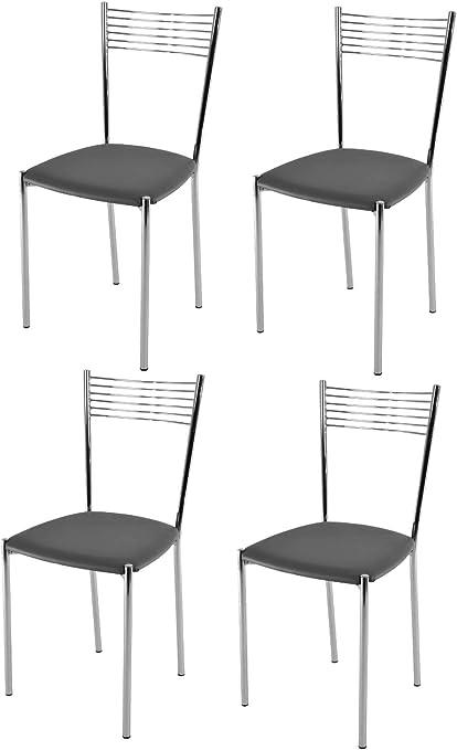 Tommychairs Set 4 sedie moderne e di design ELEGANCE per
