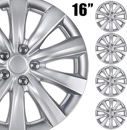 "4 NEW OEM SILVER 16/"" HUB CAPS FIT NISSAN SUV CAR STANDARD STEEL WHEEL COVERS SET"