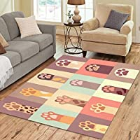 Design Area Rug Colorful Cat Paws Carpet For Living Room Dining Room Bedroom 7x5Place Mat