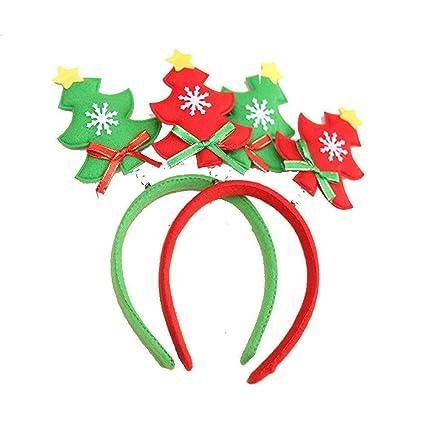 Qiusa Las Lindas Decoraciones navideñas, Cabeza de árbol, aro, Forma de árbol de