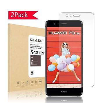 Verre Trempé Huawei P10 lite, Scarer Protection écran Huawei P10 lite, 9 H  dureté d1bcb8cfd694