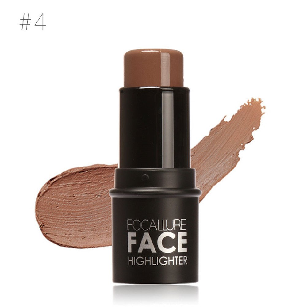 Highlighter Stick, Molie Shimmer Cream Powder Waterproof Bronzer Side Shadow Concealer Contour Stick
