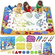 Toyk Aqua Magic Mat - Kids Painting Writing Doodle Board Toy - Color Doodle Drawing Mat Bring Magic Pens Educa