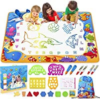 Toyk Aqua Magic Mat - Kids Painting Writing Doodle Board Toy - Color Doodle Drawing Mat Bring Magic Pens Educational Toys...