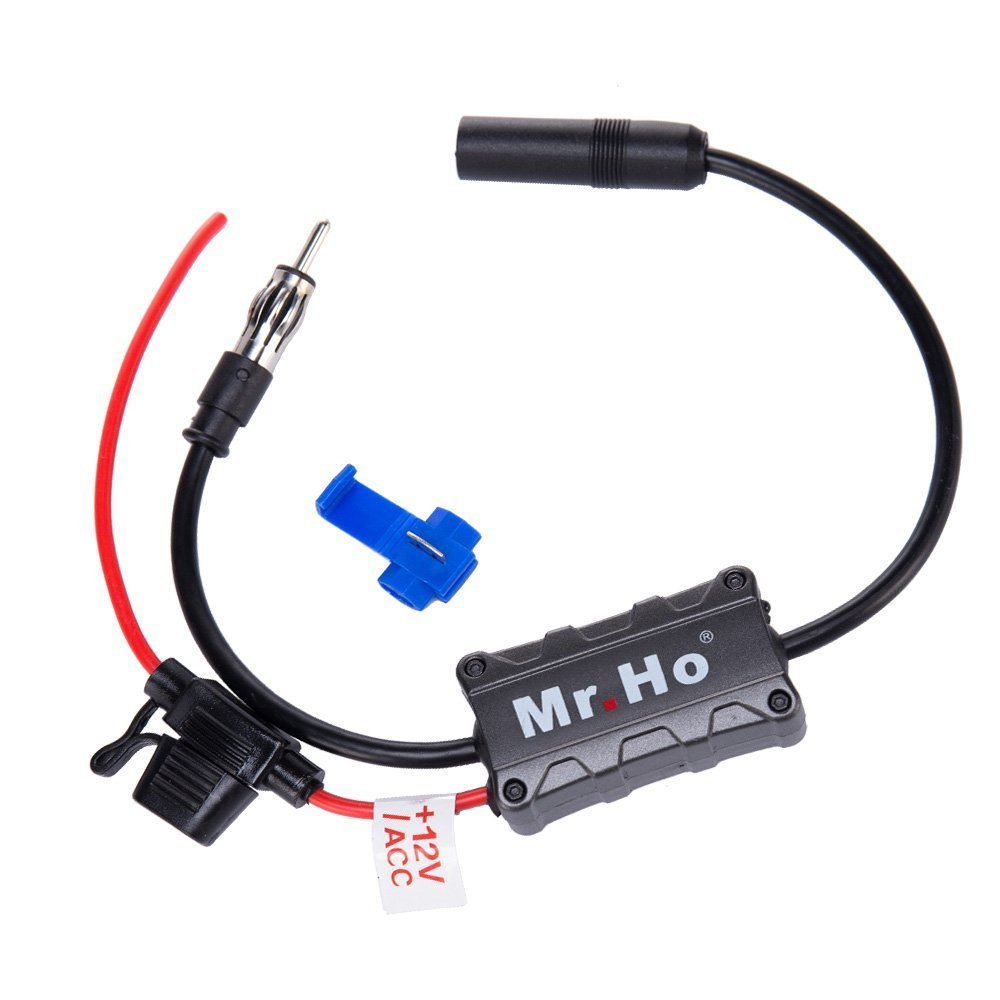 Mr.Ho Car Radio Antenna FM AM Signal Amplifier Booster 12V for Marine Car Boat Truck RV