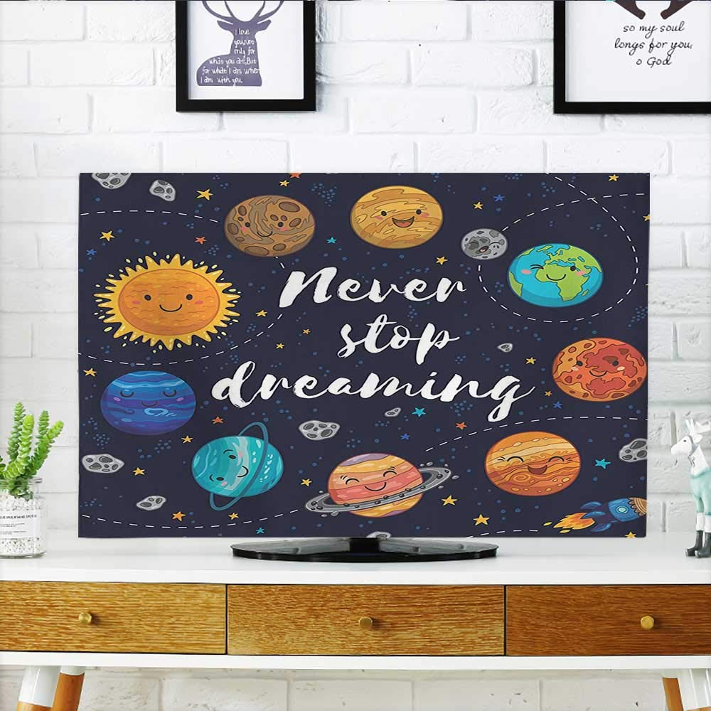 Leighhome Television Protector Planets and Star Cluster Solar System and Comets Sun Cosmos Television Protector W35 x H55 INCH/TV 60'' by Leighhome