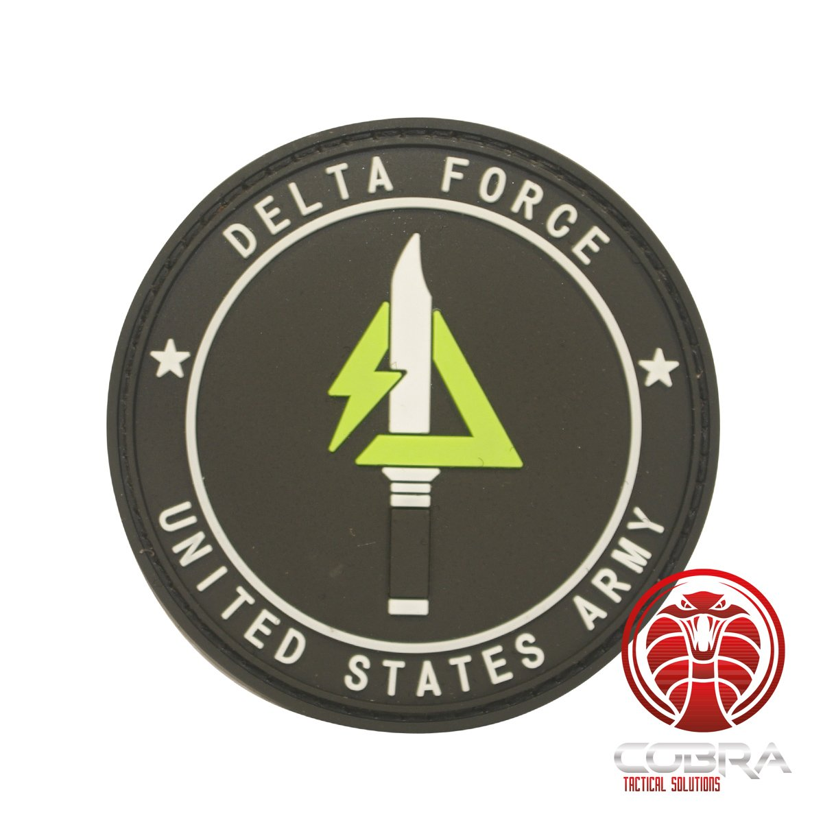 Cobra Tactical Solutions Delta Force United States Army 3D PVC Parche Militar tactico Velcro Airsoft