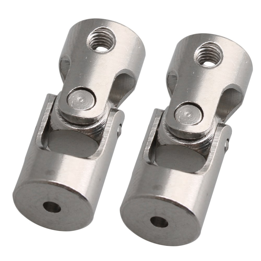 Yibuy 2PCS 2 to 3mm Rotatable Universal Joint Connector Coupler w//M3 Screw