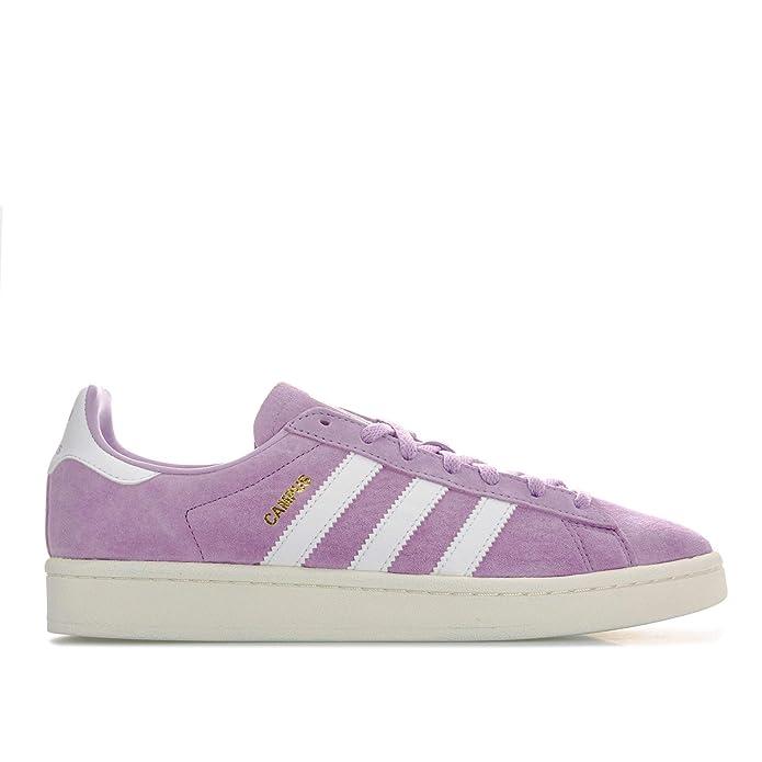 Lila Damen adidas Campus Sneaker mit weißen Streifen