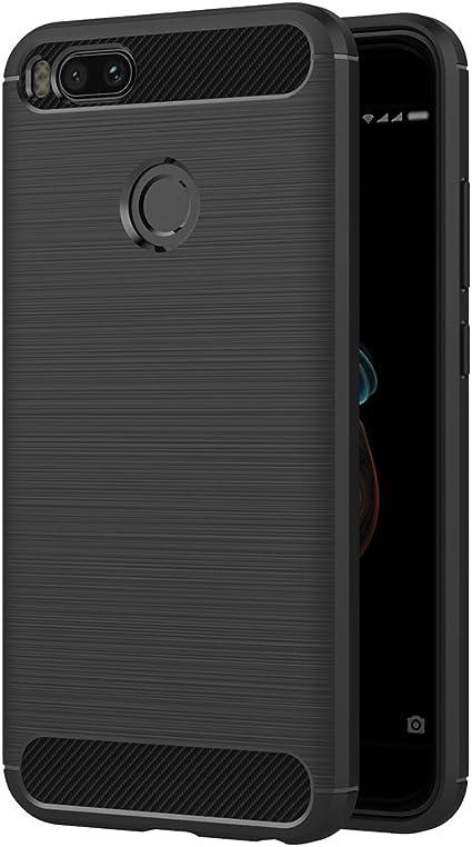 AICEK Funda Xiaomi Mi 5X / Xiaomi Mi A1, Negro Silicona Fundas ...