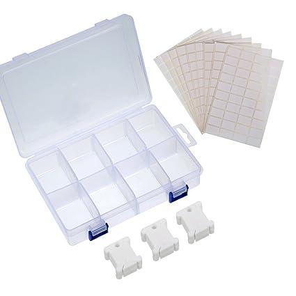 Sumind 100 Piezas Bobinas de Hilo de Plástico Blancas Bobinas de Hilo de Punto de Cruz