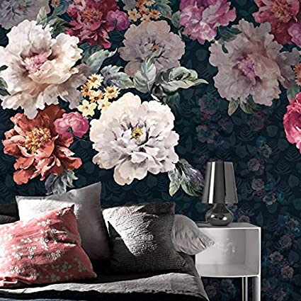 5fdc4e7f7b52f Mznm Custom 3D Mural Large Mural Hand-Painted Floral Wallpaper ...