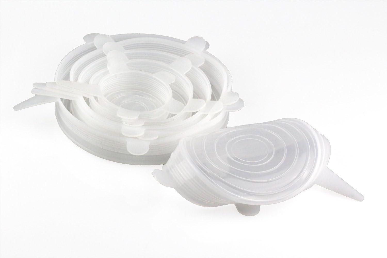 6-pack de diff/érentes tailles en silicone stretch couvercles pour bol peut Verrerie couvertures /à aliments en toute s/écurit/é en lave-vaisselle EN POT oque en silicone couvertures de stockage