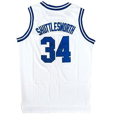 8c6e03e6653 JOLISPORT Men s Basketball Jersey Jesus Shuttlesworth 34 Lincoln High  School Basketball Jersey S-XXXL White