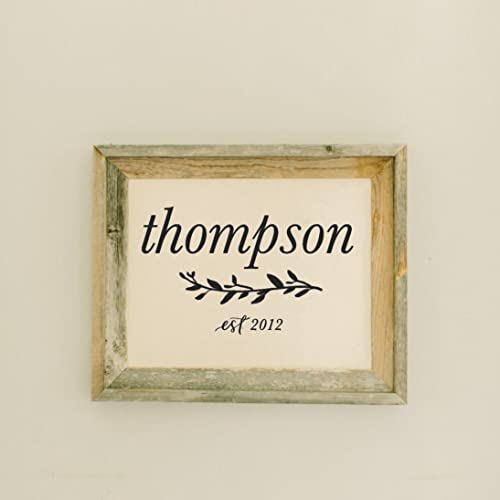 Amazon.com: Barn Wood Framed Print, Personalized Last Name with ...