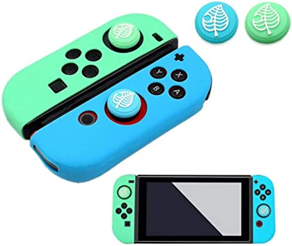 Silicone Non-Slip Cap Case for Handle Joystick, with 2 Pack Thumb Grips Stick Cap New Horizons Silicone Analog Non-Slip Replacement Case Cover Animal Forest Handle Sleeve Cover for Nintendo Switch: Amazon.es: Electrónica