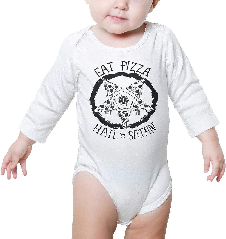 Shark Eating Pizza Fashion Newborn Baby Short Sleeve Bodysuit Romper Infant Summer Clothing Black