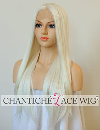 Amazon.com  Chantiche Soft Platinum Blonde Long Straight Lace Front ... 6c60fb16ed36