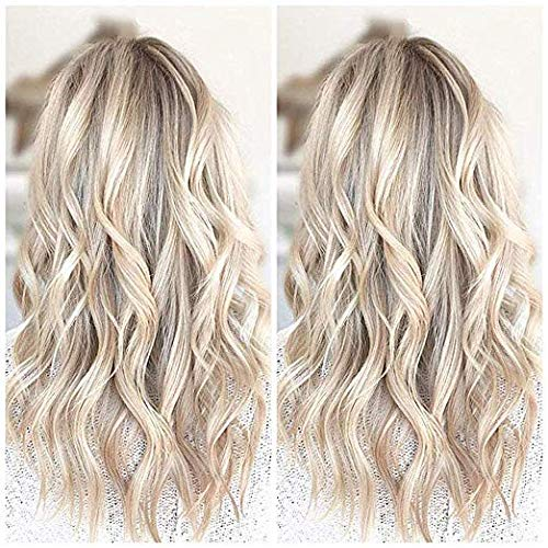 Ugeat 16 Inch Micro Bead Hair Extensions Human Hair Blonde Highlight Micro Beads Hair Weft Blonde 50 Gram Human Hair Weft Extensions Micro Beaded Hair