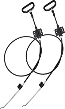 2Pcs Sofa Recliner Cables Recliner Release Pull Cables D-Ring Handle Replacement