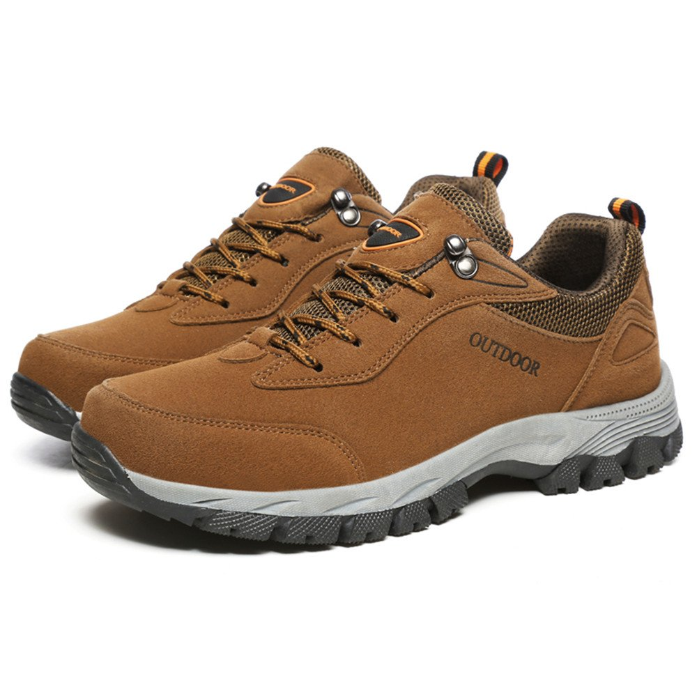 FZUU Unisex Wasserdicht Wanderschuhe Trekking Schuhe Herren Damen Sport Outdoor Klettern Sneaker (41, Grau)