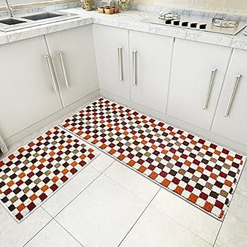 Wolala Homeu0026trade; Fashion Ethnic Style Plaid Splice Kitchen Rug Runner  Washable Non Slip Durable