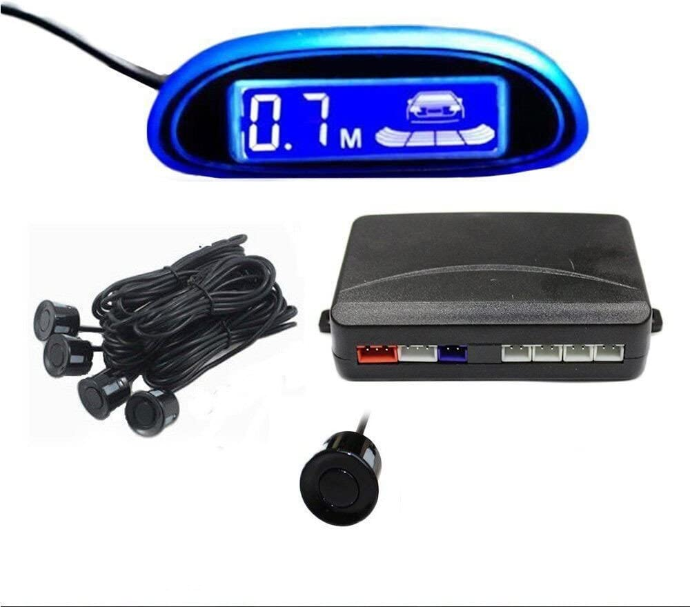 Tuqiang® Detector de Radar Sistema de Aparcamiento con 4 Sensores de Coche , pantalla LED azul