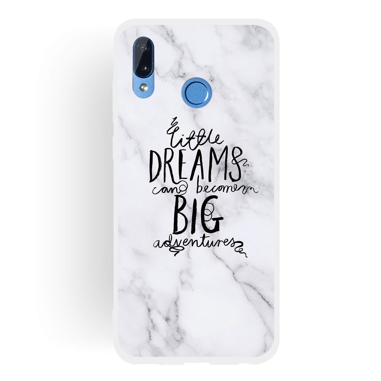Dreaming-Dreams Big-Ola LeviDo 3X Funda Huawei Honor Play Silicona Bumper Caucho Caso TPU Delgado Goma Compatible para Huawei Honor Play Antigolpes Parachoque Cover