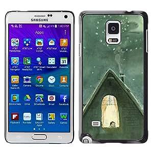 LECELL--Funda protectora / Cubierta / Piel For Samsung Galaxy Note 4 SM-N910 -- Winter Famous Catia Chien Nucleus --