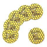 100 Yellow Honey Nation Shatter Labels Medical Marijuana Rx Labels Stickers 1'' CS-020