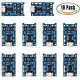 CJRSLRB 10Pcs TP4056 Micro USB 5V 1A 18650 Lithium Battery Charging Board with Protection Charger Module