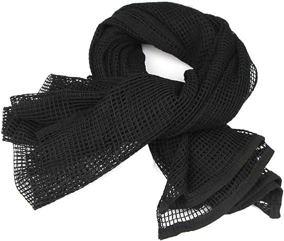BTP BLACK STYLE CAMO TACTICAL MESH LARGE NECK SCARF SNIPER VIEL SCRIM NET