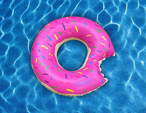 Giant Donut Pool Float, 3-Feet Diameter