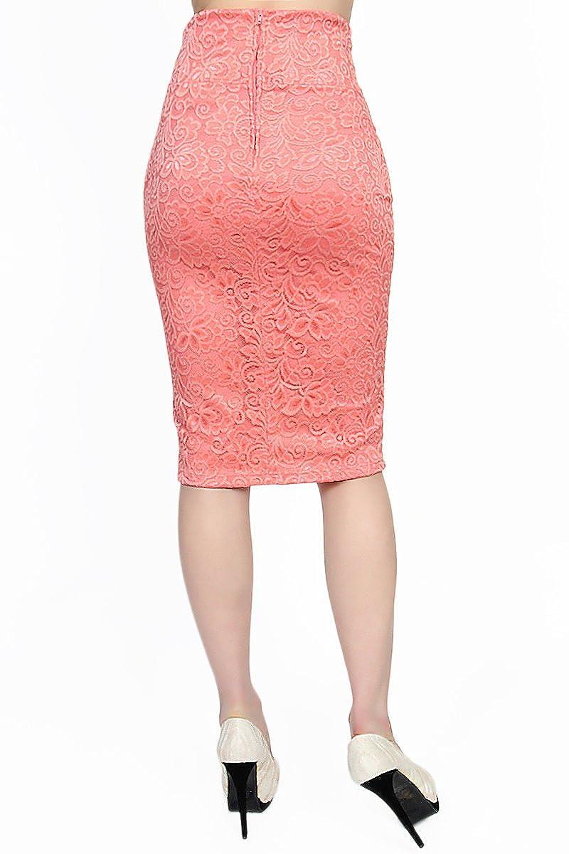 TheMogan High Waisted Foldover Waistband Pull On Stretch Pencil Midi Skirt S~XL