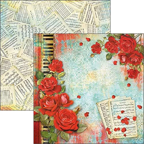 Papel de doble cara 30,5 x 30,5 cm, 12 unidades Ciao Bella Tango