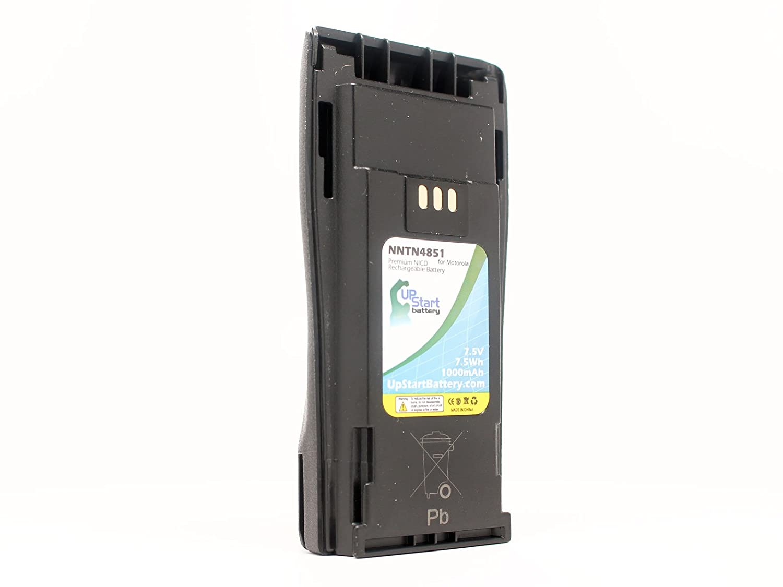 2x Battery for Motorola NNTN4851A PR400 CP160 CP380 NNTN4496AR NICD 1000mAh