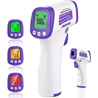 FIRHEALTH Forehead Thermometers,Infrared Digital Thermometer for Kids and Adults, High Accurate Readings Non-Contact Thermometer for School Office Hospital Buildings