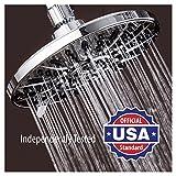 7 inch shower head - AquaDance High-Pressure 6 Setting 7