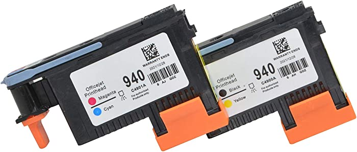 Wenon 2 Pack HP 940XL 940 Printhead C4900A C4901A Compatible for HP Officejet Pro 8000 8500 8500A 8500A Plus 8500A Printer