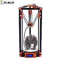FLSUN Imprimante 3D Delta Kossel Diy Kit avec grande taille d'impression 3D Mise à jour du système Nuzzle Mise à niveau automatique du lit chauffé (version poulie)
