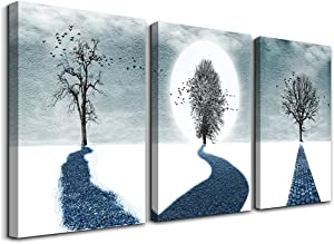 Canvas Wall Art For Living Room Family Wall Decorations For Bedroom Modern Bathroom Wall Decor Paintings Black And White Tree Artwork Fashion Inspirational Office Canvas Art Prints Home Decor 3 Piece