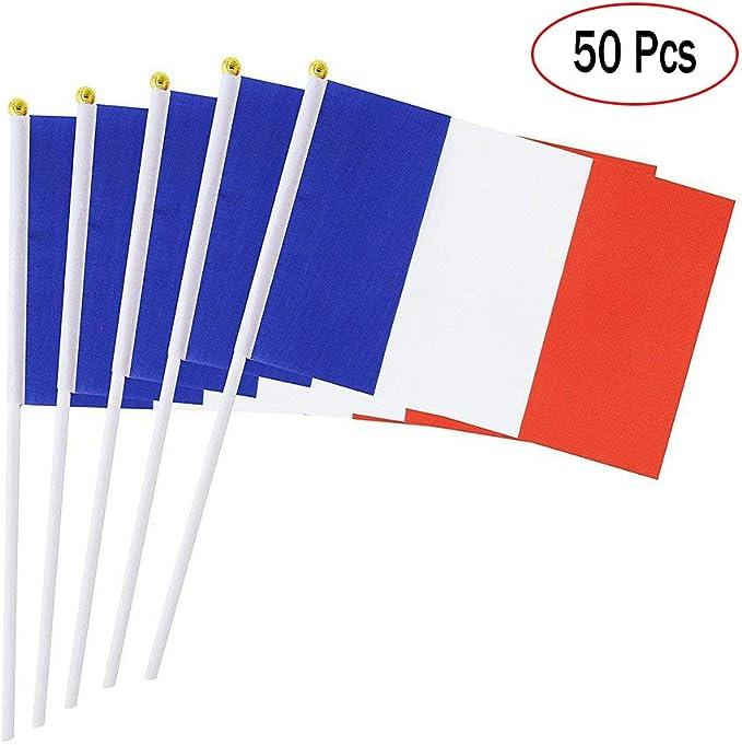 Banderas de Mano Paises Francia, Mini Banderas pequeñas de 14 x ...