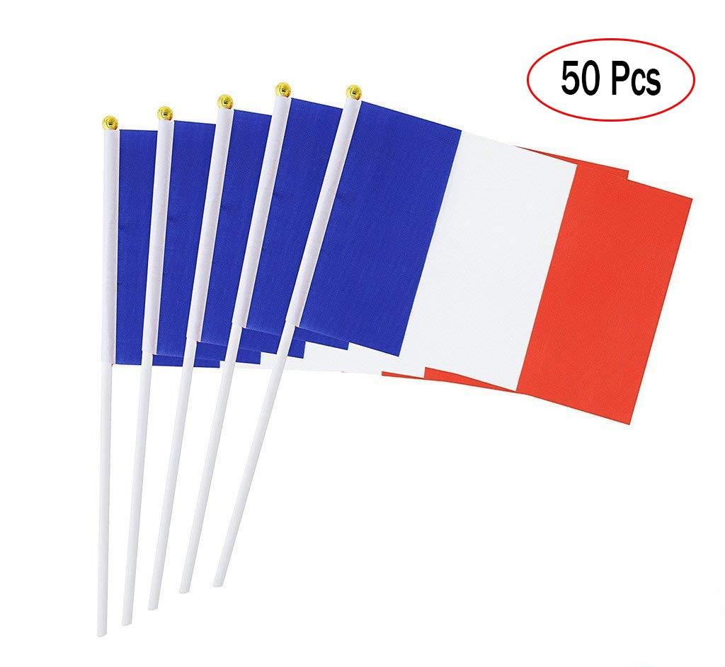 ランキング第1位 zilbery USAフラグスティック Sticks、国際フラグon zilbery Sticks Hand Held France Small Miniフラグバナー50パックfor OfficeパーティーデコレーションまたはオリンピックパレードWorld Cupスポーツイベントバー祭イベントお祝い J, France B07C9G6FP6, 三豊郡:5a07c476 --- tadkarecipes.com