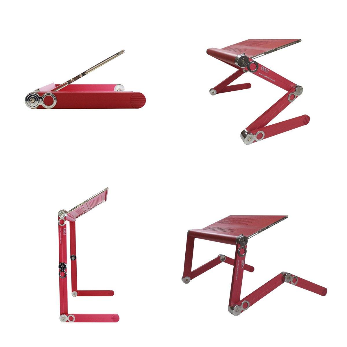 BACK - Atril elevador - Plegable, regulable, portátil y ergonómico - Para cuadernos y ordenadores portátiles - Rosa Frambuesa: Amazon.es: Oficina y ...