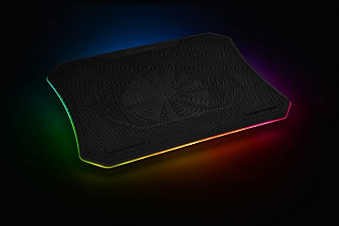 "Thermaltake Massive 20 RGB Steel Mesh Panel Single 200mm Fan 10""‐19"" Laptop Notebook Cooling Pad CL‐N014‐PL20SW‐A"