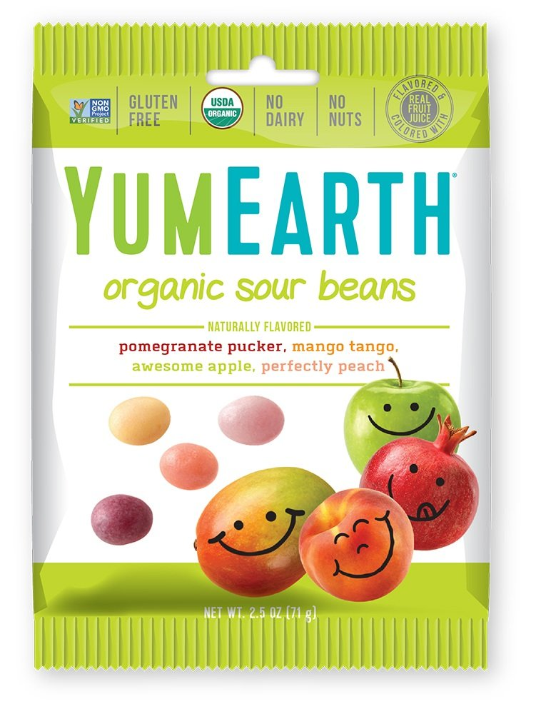 YumEarth Organic Sour Beans, 2.5 Ounce (Pack of 12)