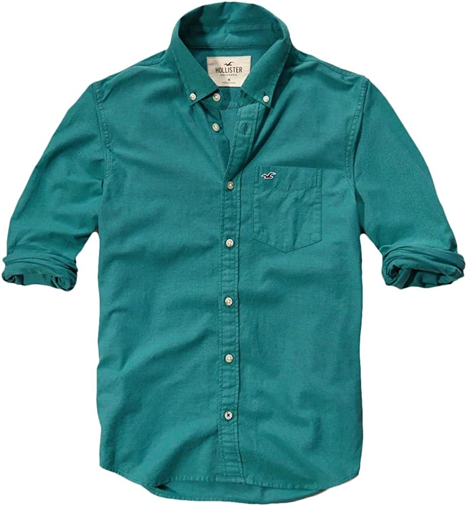 Hollister - Camisa casual - Button Down - Básico - con botones ...